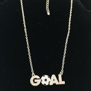 Jewelry - GOAL SOCCER NECKLACE SILVER TONE CHAIN